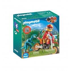 Playmobil 9431, Rower motocrossowy z raptorem