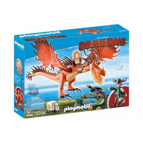 Playmobil 9459, Dragons Jak wytresować smoka, Sączysmark i Hakokieł