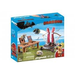 Playmobil 9461, Dragons Jak wytresować smoka, Pyskacz Gbur z katapultą do owiec