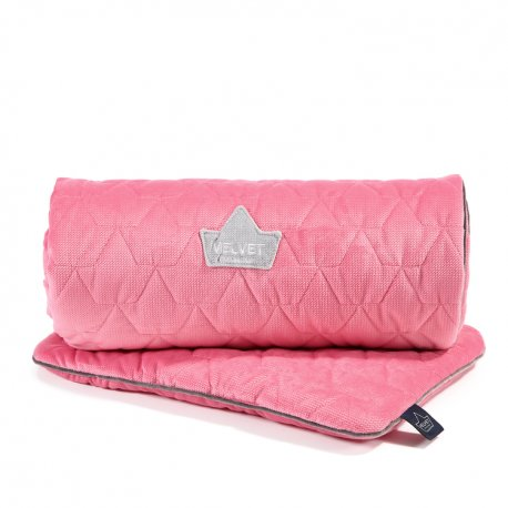 Pościel Velvet Collection - blanket and mid pillow, florida pink - La Millou