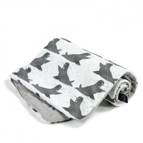 Kocyk Velvet Cotton, Icy seal, Dark grey, La Millou