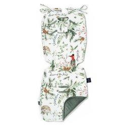 Thick Stroller Pad Velvet, Forest, Khaki, La Millou