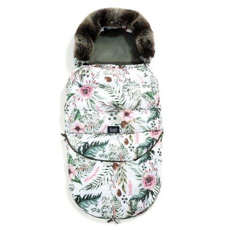 Śpiworek Stroller Bag Aspen winterproof, Wild blossosm, Khaki, La Millou