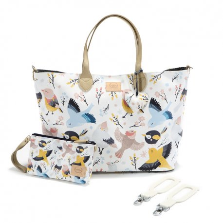 Torba large z saszetką Premium, Cute birds, La Millou