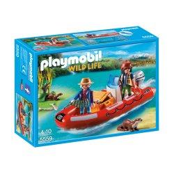 Playmobil 5559, Łódź pontonowa z kłusownikami, Playmobil Wild life