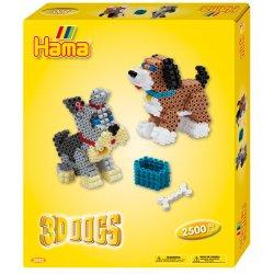 Hama 3243 - Pieski z Koralików Midi w Wersji 3D