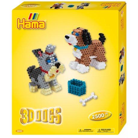 Hama 3243 - Pieski 3D - Koraliki Midi