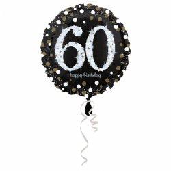 Balon Foliowy na 60 Urodziny - Okrągły Holograficzny 45 cm