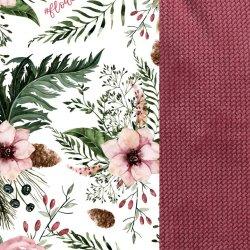 Poduszka Angel's Wings Velvet, Wild Blossom, Mulberry, La Millou