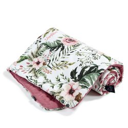 Kocyk Velvet Cotton, Wild blossom, Mulberry, La Millou