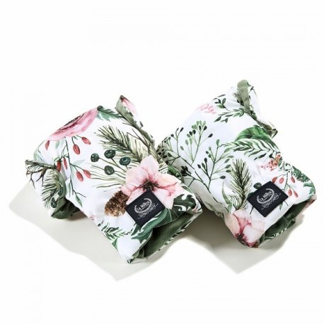 Mufka rękawice Aspen Winterproof, Wild blossom, Khaki, La Millou