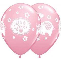 Balon na narodziny dziewczynki - It's a girl - różowy