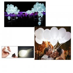 Świecące Balony Led z Helem na Wesele - Białe