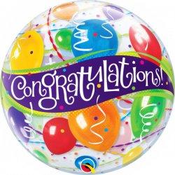 """Balon """"Congratulations"""" GRATULACJE - 56 cm"""