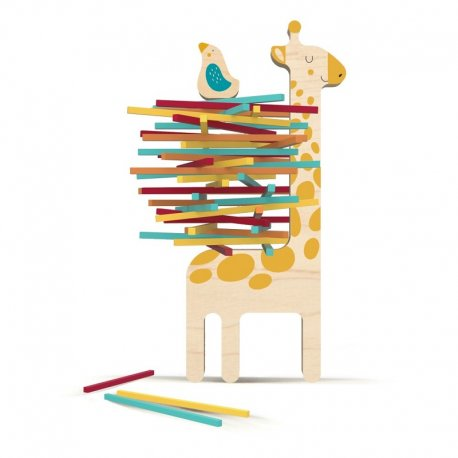 Drewniana gra Żyrafa Matylda i przyjaciel, Londji WT004