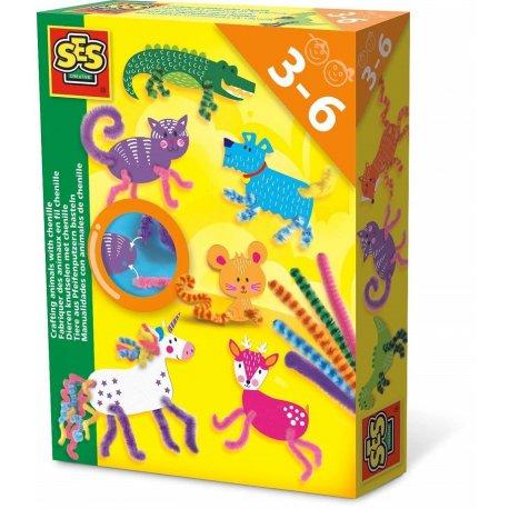 Zabawka kreatywna zwierzątka z drucików, SES Creative