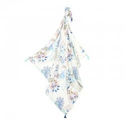 Bambusowy otulacz King Size - Iris Sorbet, fringe - La Millou