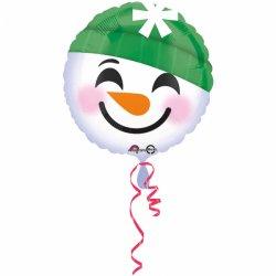 "Balon Okrągły ""Bałwan"" - Snowman 43 cm"
