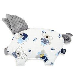 Poduszka Sleepy Pig, Hello world, Grey, La Millou