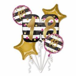 Balony na 18 urodziny - bukiet balonów z helem