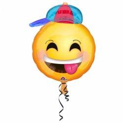 Balon Emotikon Uśmiech Czapeczka - 43 x 50 cm