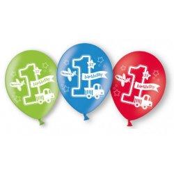 Balony na Pierwsze Urodziny - 6 sztuk balonów lateksowych