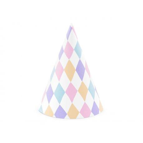 Czapeczki papierowe Jednorożec - 6 szt. idealne na urodziny
