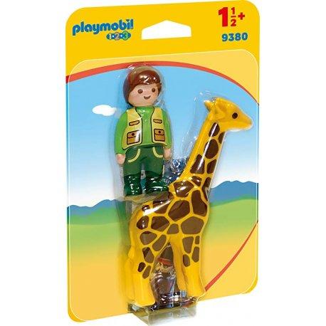 Playmobil 9380 - Opiekun zwierząt z żyrafą