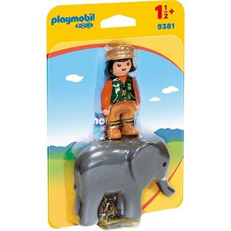 Playmobil 9381- Opiekunka zwierząt ze słoniem