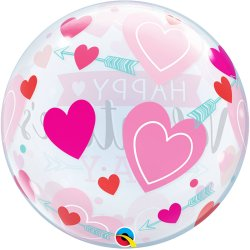 Balon Kula - Happy Valentine's Day - 56 cm