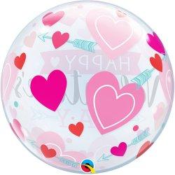Balon Kula - Happy Valentine's Day - 56 cm