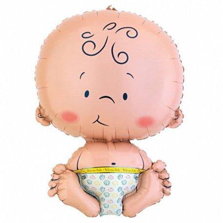 Foliowy balon w kształcie Bobasa - chłopiec