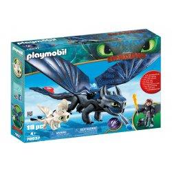 Playmobil 70037 - Szczerbatek i Czkawka z małym smokiem