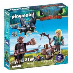 Playmobil 70040 - Czkawka i Astrid z małym smokiem