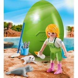 Playmobil 9418 - opiekunka zwierząt z małą foką