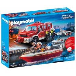 Playmobil 70054 - Samochód strażacki z łodzią strażacką