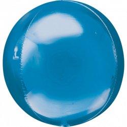 Balon dekoracyjny Orbz (Kula) - Niebieski