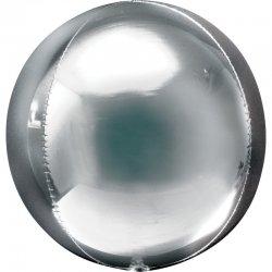 Balon dekoracyjny Orbz (Kula) - Srebrny