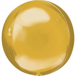 Balon dekoracyjny Orbz (Kula) - Złoty