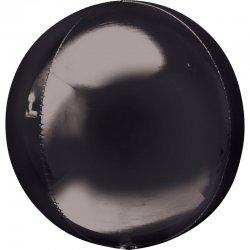 Balon dekoracyjny Orbz (Kula) - Czarny