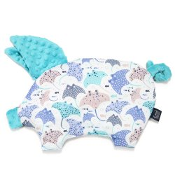 Poduszka Sleepy Pig, Manta Ray, Teal, La Millou