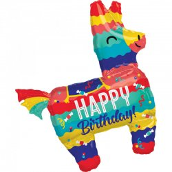 "Balon SuperShape - PINIATA ""Happy Birthday"" - 73 x 83 cm"