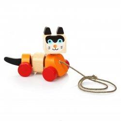 Cubika 13616 - drewniany kotek na sznurku