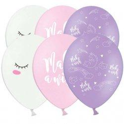 Balony urodzinowe w jednorożce - Make a wish