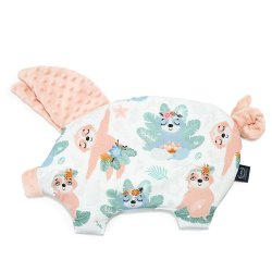 Poduszka Sleepy Pig, Yoga Candy Sloths, Powder Pink, La Millou