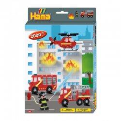 Hama 3441 - straż pożarna, koraliki midi