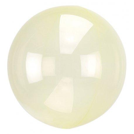 Balon Crystal Clearz - Żółty Przeźroczysty - 45 cm