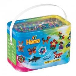 Hama 202-69 - 10 tys koralików midi, kolory przeźroczyste i pastelowe