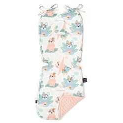 Thick Stroller Pad, yoga candy sloths, Powder Pink, La Millou