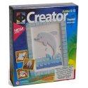 Gipsowe obrazki - Delfin - Zestaw kreatywny